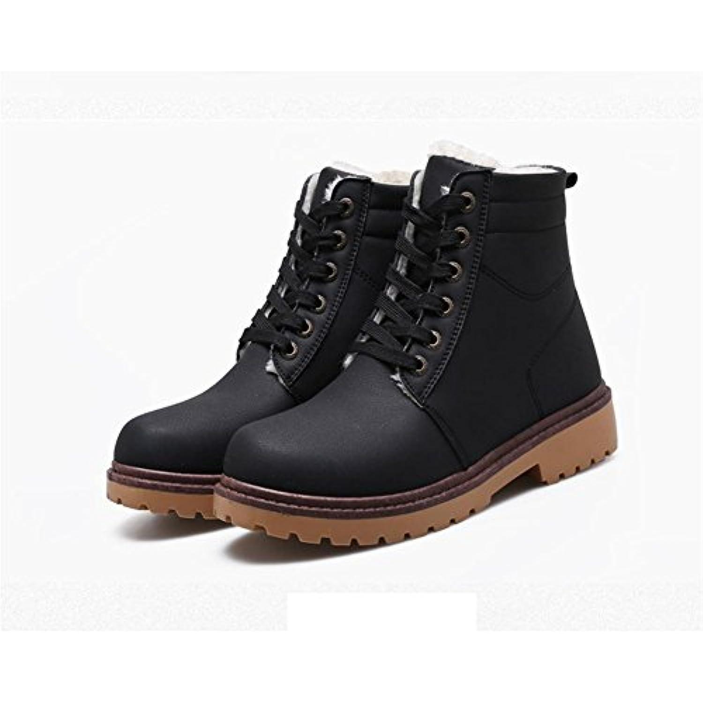 Maschere invernali maschili pi¨´ riscaldare spesse per aiutare a riscaldare pi¨´ gli stivali con stivali antiscivolo , black , 43  Parent d2afef