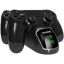 Cargador LREGO Fast Dual, DualShock 4 Base de carga con pantalla, para PlayStation 4, PlayStation 4 Slim y PlayStation 4 Pro