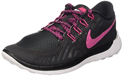 Nike Wmns Free 5.0 - Scarpe sportive Donna, Black/Vivid Pink-White, 38