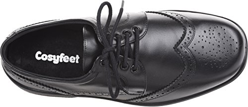 Cosyfeet Darby Shoes – Extra Roomy (HH+ Width Fitting) – Black Leather – 11