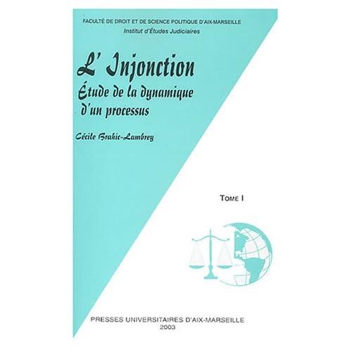 L'Injonction : Etude de la dynamique d'un processus, 2 volumes