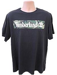 Timberland New Graphic Camo Black Top Tee SZ: X-Large/L