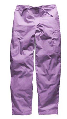 Dickies Workwear Medizin Bundhose mit Kordelzug Schlupf-Hose Damen und Herren (M, Flieder) (Dickies Damen-hose Arbeit)