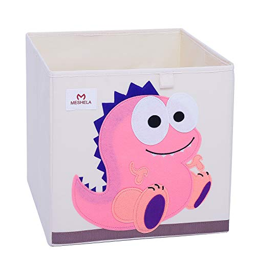faltbox kinderzimmer Meshela Aufbewahrungsbox für Kinderzimmer faltbarer waschbarer Cartoon Spielzeugkiste geeignet für Spielzeug, Kleidung, Kinderbücher Aufbewahrungskiste (PDino)