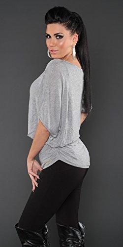 Sexy KouCla Fledermaus Pullover Koucla by In-Stylefashion SKU 0000PU1611101 Grau
