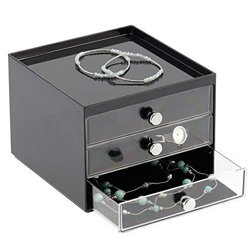 MDesign Caja Guardar Joyas - Organizador Joyas 3 cajones
