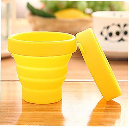 XKJFZ Flasche Faltbare Silikon Zusammenklappbaren Cup Wasser
