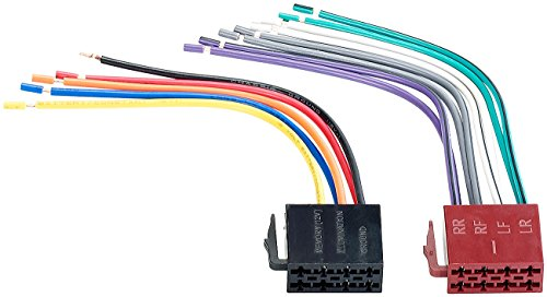 Creasono Autoradio Iso Stecker: ISO Stecker 15cm (Autoradio-Adapterkabel)