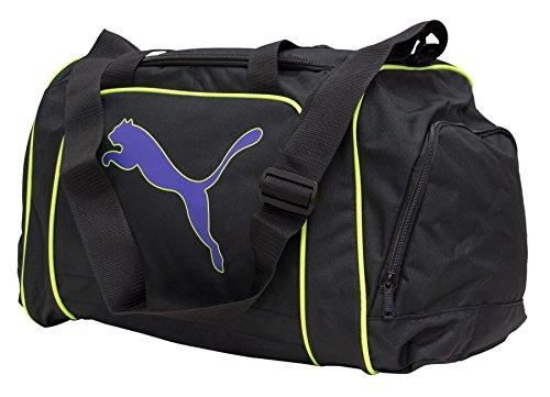 PUMA Unisex - Adulti Team Cat Medium Bag Black-Prism Violet-Fluro, Nero, 46 x 25 x 30 cm