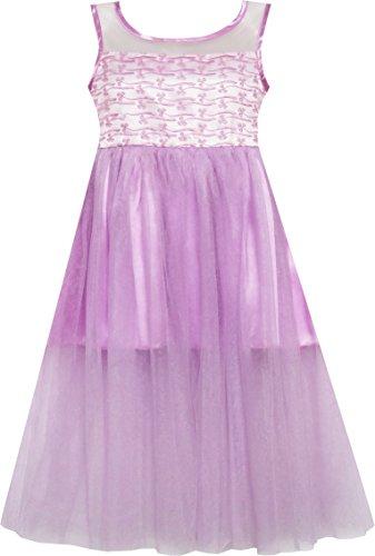 sunny-fashion-robe-fille-satin-tulle-revetement-princesse-partie-pourpre-7-ans