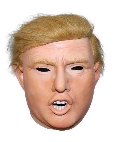 The Rubber Plantation TM 619219292184Donald Trump Halloween Billionaire Presidenziale President costume di maschera intera con parrucca, unisex, taglia unica