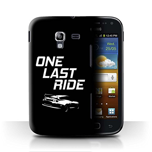 Stuff4 Custodia/Cover/Caso/Cassa Rigide/Prottetiva Stampata con Il Disegno Corse Automobilistiche Strada per Samsung Galaxy Ace 2/I8160 - One Last Ride