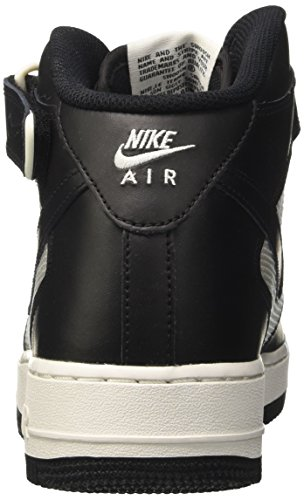 Nike Air Force 1 Mid '07, Chaussures de Basketball Homme Noir (Black/black/summit White)