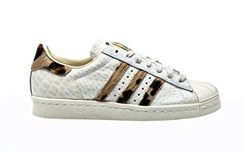 Adidas Originals SUPERSTAR 80s ANIMAL Chaussures Mode Sneakers Femme Blanc