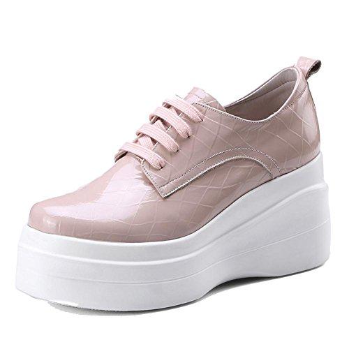 Double WSXY Semelles Pink Cuir à Plateformes Embossé Femme Créatif Chaussures A0503 KJJDE tqFAz8tw