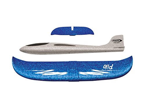Jamara 460305 Pilo Schaumwurfgleiter Epp Weiß/Blau - 48cm Spannweite, Super Leicht, Fast Unzerstörbar, Looping, Gleitflug