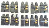 LEGO CITY - 10 Beine - Hosen für Minifiguren in schwarz mit Aufdruck Agent in silber und orange- legs