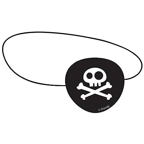 4 Augenklappen mit Gummiband * Jake und die Nimmerland Piraten * // Kindergeburtstag Kinder Geburtstag Verkleiden Party Indianer Pirat Eye Patch Totenkopf