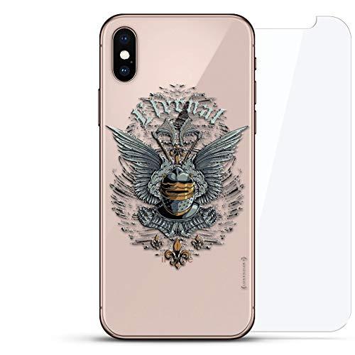Luxendary Schutzhülle für iPhone XS, unsichtbar, Cooles Design, Hartglas, Rückseitenschutz, 360 Schutz, Lebensstil: Ewige Flügel, farblos