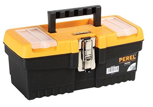 Preisvergleich Produktbild Perel om13m 33cm Werkzeugkoffer mit Metallverschlüssen