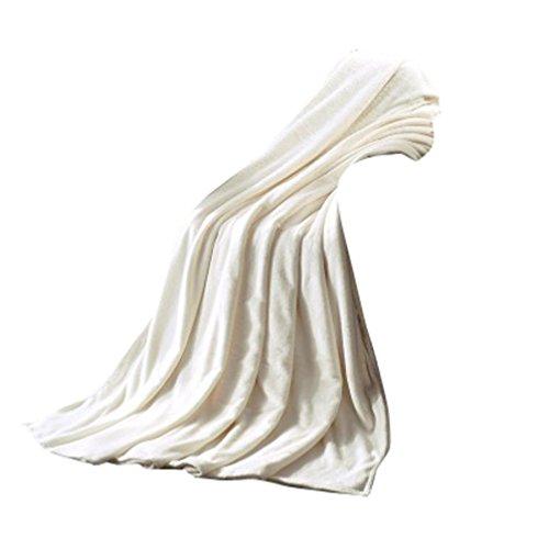 OVERDOSE Super Weiche Wärme Solide Microplush Fleece Decke Wurf Wolldecke Schlafsofa Fleece Blanket (50*70cm, A-White)