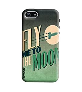 Omnam Fly Me To The Moon Printed Designer Back Cover Case For Apple Iphone 5/5s