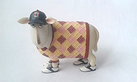 Sporting Rams Collectable Figurine 16 x 13cm SANDY GOLF