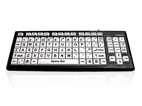 USB Hoher Kontrast Tastatur mit Extra Große Schlüssel/High Visibility Vision Impairment Tastatur/QWERTY Stecker & Abspielen / 2 Hafen USB Nabe/iCHOOSE