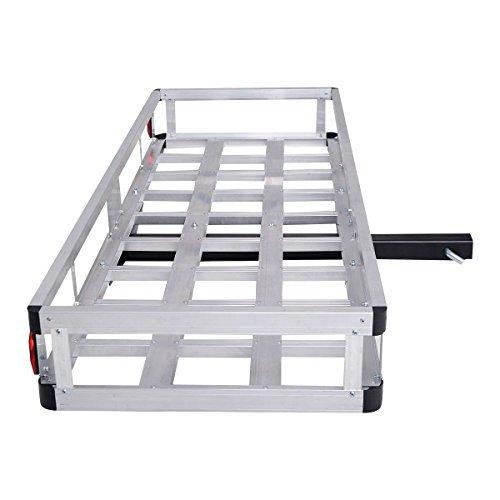 Goplus60 x 22 Aluminum RV 2 Hitch Mount Cargo Carrier Truck Luggage Basket 500LBS by Goplus