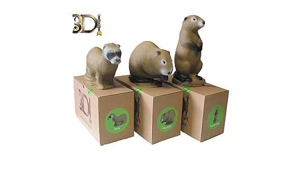 Family Pack Id/éal pour tir /à l/'Arc et Pistolet arbal/ète. 3D International Pack 3 cibles 3D