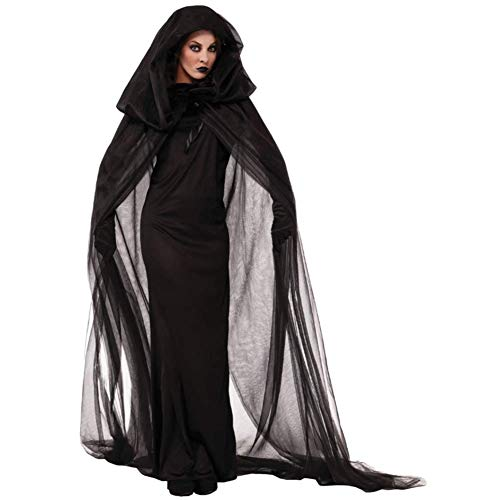 Einzigartige Kostüm Weiblich - QIAO Halloween Kostüm weibliche Geister Kostüm Hexen Robe Rave Party Anzug