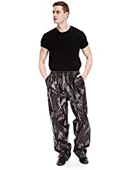 Para hombre impermeable over-trousers ligero Plain Impreso