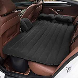 AllExtreme Multifunctional Inflatable Car Bed Mattress with Two Air Pillows, Car Air Pump and Repair Kit (Assorted Colors)