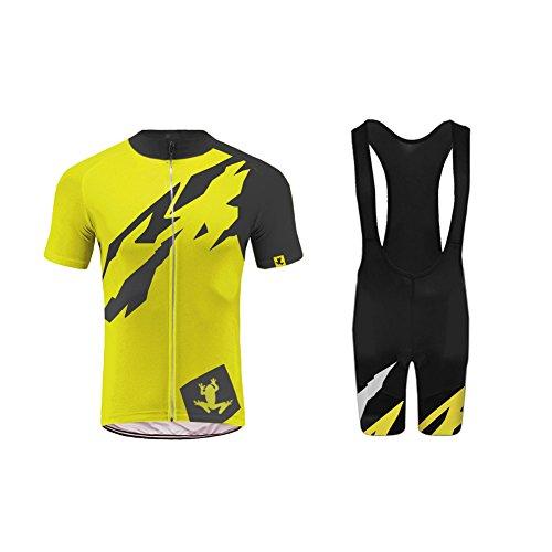 Uglyfrog HFZD09 Bike Wear 2019 Nouveau Tenue VTT Maillot+Bib Shorts Sets with Gel Pad de Cyclisme Vêtements Maillots Homme Manche Courte Style d'été