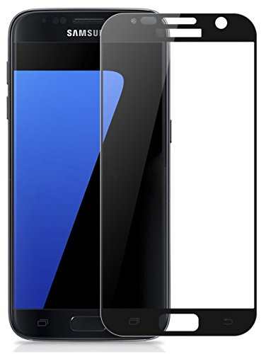 Samsung Galaxy S6 Full Screen 2.5D Edge to Edge Curved Tempered Glass Screen Protector -Black