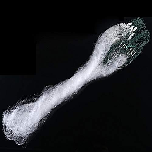 Alomejor Fischernetz, 1m x 20m große zusammenklappbare ausziehbare Teleskopstange langlebiges Nylon-Material Mesh sicheres Fischen Fangnetz(3 Finger) -