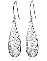 YFN - Vintage estilo clásico pendientes de plata esterlina para Mujeres Chicas(View amazon detail page)