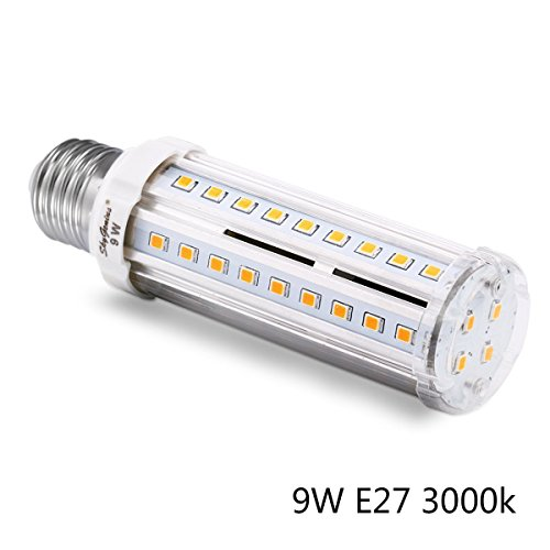 E27 LED Mais Birne Beleuchtung, 58 x SMD 2835 LEDs Leuchtmittel Maiskolben Ersatz 70W Warmweiß Energiesparlampe 9W für Wandlampen, Tischlampen, Deckenlampen, Küche, Schlafzimmer, Hängendes Licht, Ankleidezimmer(3000K)