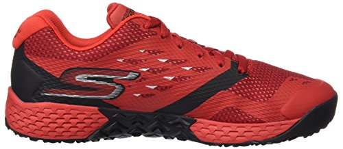 Skechers Go Train Endurance, Chaussures Multisport Outdoor Homme Rouge (Rdbk)