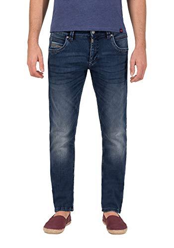 Timezone Herren Straight Jeans Regular RyanTZ Blau (Industry Blue Wash 3346) W36/L32 (Herstellergröße: 36/32) - 511 Männer Skinny Stretch Jeans