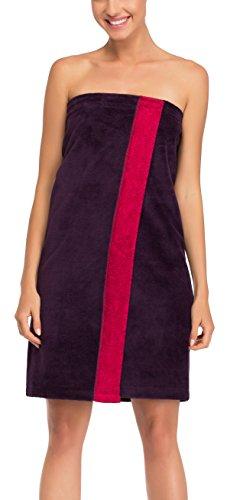 Merry Style Damen Saunakilt 13006 (Aubergine/Amaranth, S/M)