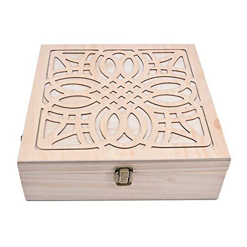 lembrd 62 Löcher Ätherisches Öl Display Ständer Gestell Halter Organisator, Holz Box Veranstalter Aufbewahrung Koffer Box für Duftöle, Ätherisches Öl