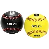 Sklz® - Pack de 2 Pelotas de béisbol Pesadas (Amarillo, 10 oz, Negro 12 oz)