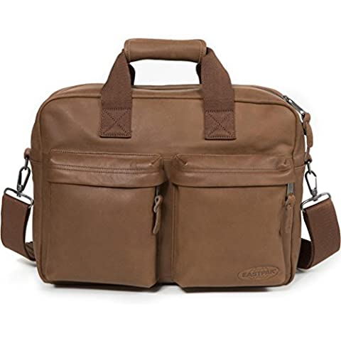 Eastpak - Sacoche ordinateur Eastpak Tomec en cuir ref_eas37866-08N-Brownie Leather