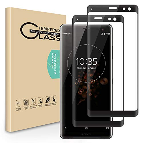 Screen Handy (Seinal Panzerglas Schutzfolie für Sony Xperia XZ3 [2 Stück] 3D Full Screen Displayschutzfolie,Panzerglasfolie,Tempered Glass,3D Touch Hartglas,Screen Protector Glass,Handy Folie (Schwarz))