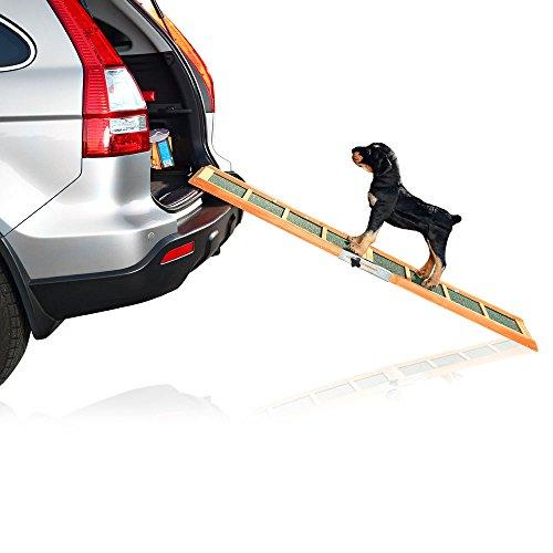 Auto-hund-bett (Melko® Teleskop-Hunderampe fürs Auto, 160 x 30 cm, Grün)