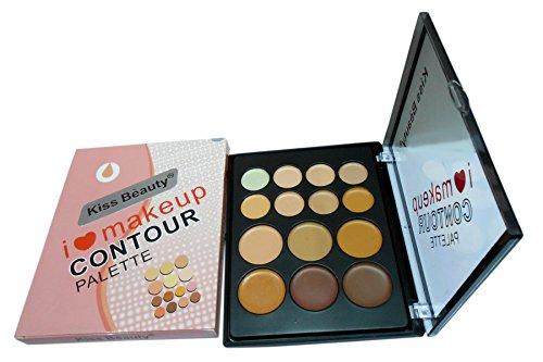 Kiss Beauty Concealer Highlighter Contour Palette (14 Color)