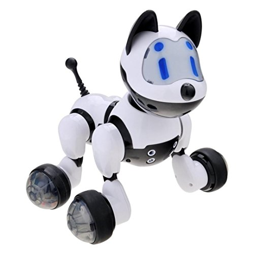 VENMO Voice Control Robot Dog Kids Toy Walking Dancing Musical Electronic RC Robort on Wheels Actions Figure Learning Interactive Toy Rorbots Pet Animals For Boys