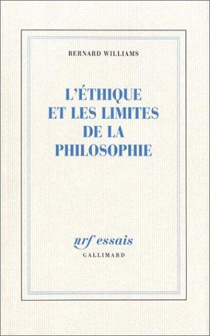 L'thique et les limites de la philosophie