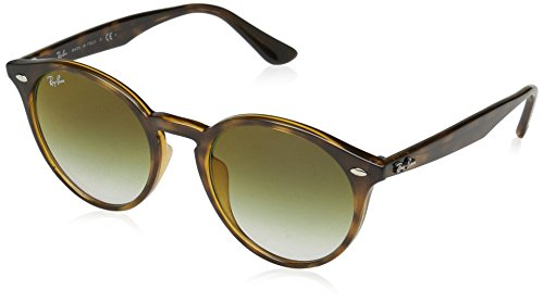 Ray-Ban Men's 0rb2180f Non-Polarized Iridium Round Sunglasses, Havana, 51.6 mm